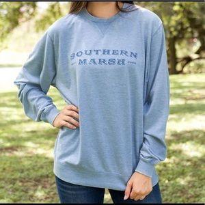 Brand new Southern Marsh sweater size XL blue